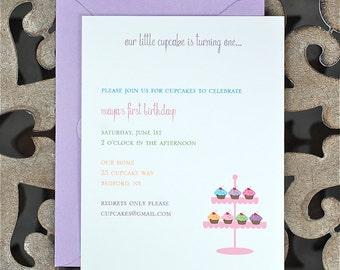 Birthday Party Invitations, Children's Birthday Invites, Birthday Party Invites, Cupcake Birthday Invites, Gender Neutral