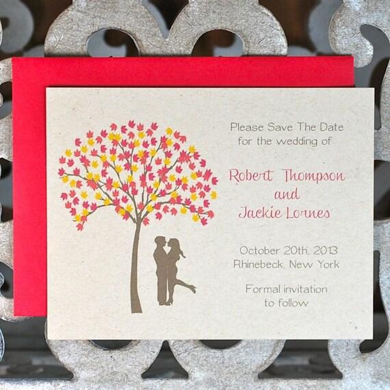 Fall, Autumn, Fall Foliage, Save The Dates, Autumn Wedding Save The Dates, Outdoor Wedding, Save The Dates, Affordable Wedding, Fall Wedding