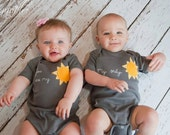"TWIN ""You are my SUNSHINE"" & ""My Only SUNSHINE"" Onesies Set , Great Shower gift for Twins or siblings - twinzzshop"