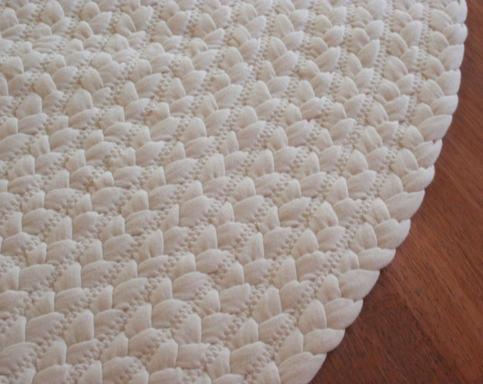 "All Natural Organic Cotton Rug 60"" round"