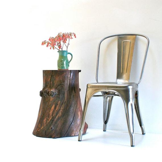Walnut tree stump end table side nightstand furniture