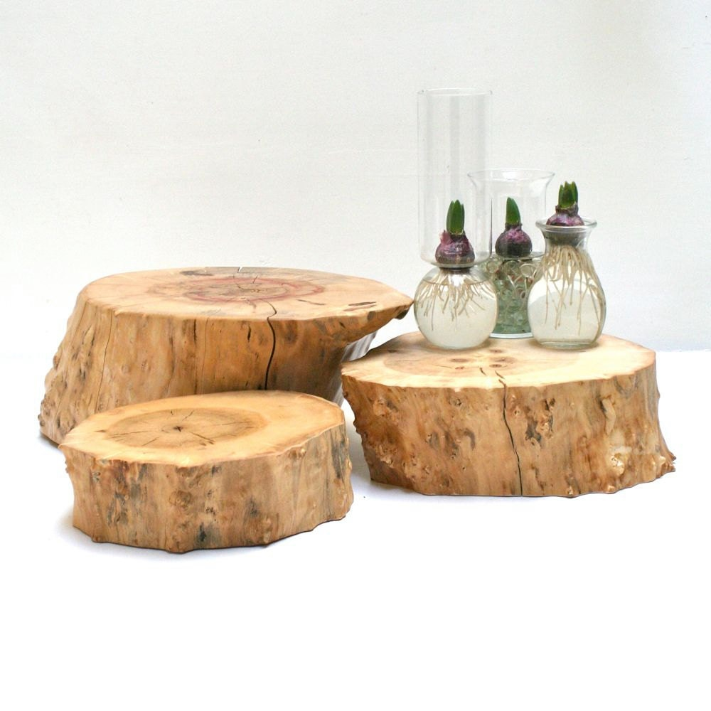 wedding cake tree stump stand cake stand server medium tree slice stump pedestal 26707