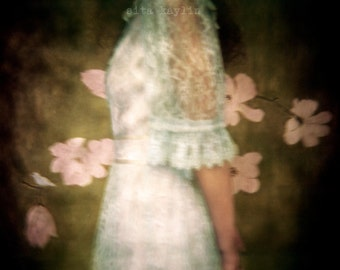 green, fine art photo, lace, film, flowers, holga, painting 4x5, 8x10
