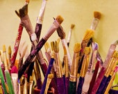 Paintbrushes - 8x12 Fine Art Photo - Multicolor - Artsy Decor - Craft Room Decor - Made in Israel