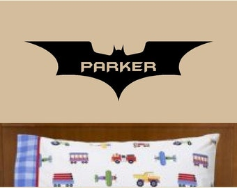 Batman Wall Decal Personalized Name Vinyl Wall Art