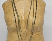 Gun Metal  Multi-strand Chain Necklace for layering or worn alone