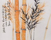 original ink painting bamboo painting chinese painting oriental art chinese art -lovely bamboo No.24