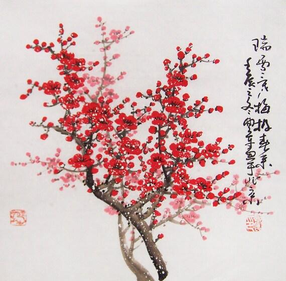 Blossom Peintures Original Peinture Chinoise Art Oriental Aquarelle