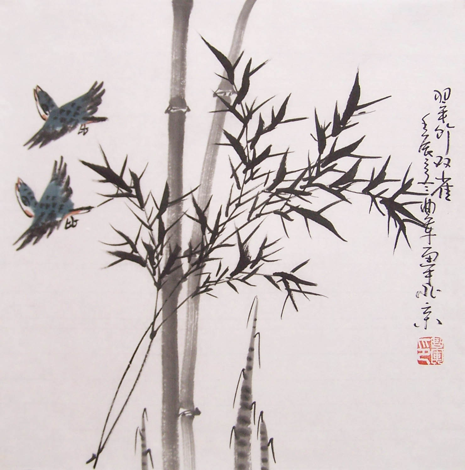 Original Chinese Traditional Painting Bamboo Painting Ink