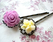 Flower Bobby Pin Gifts For Children Bobby Pin Flower Hair Accessories Ivory Purple Bobby Pin Flower Hair Pin Romantic Hair Accessories