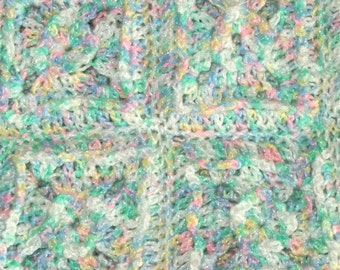 Pastel Puffed Granny Square Baby Afghan