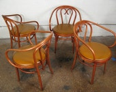 Set of Four Mid-Century Bentwood Chairs