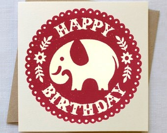 Elephant Birthday Card | Elephant Card