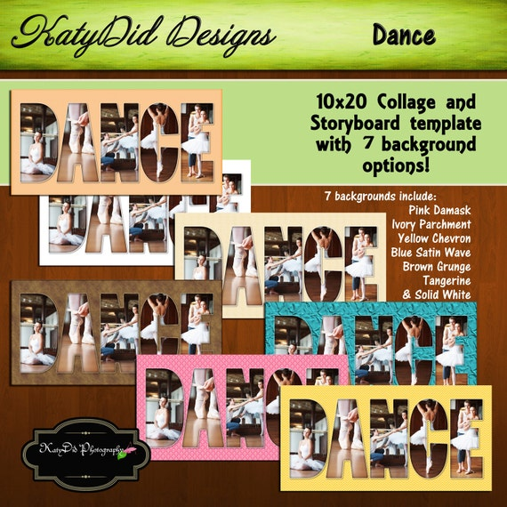 10x20 Dance Ballet Collage or