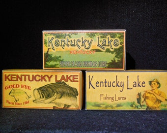 Kentucky Lake bass fishing lure boxes for Tennessee and Kentucky