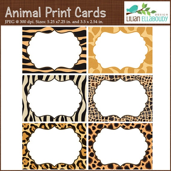 Editable pdf animal print invitations animal print by for Leopard print invitations templates