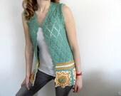 Custom order for Emiko - 2 Crochet Vests - Medium size.