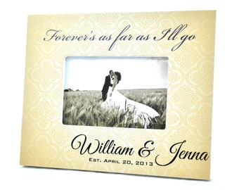Personalized Picture Frame for 4x6 Photo Wedding or Anniversary Gift UPWJ-01
