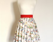 Mini Menagerie Pleated Skirt - Made by Dig For Victory
