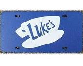 Gilmore Girls Luke's Diner Blue License Plate Car Tag