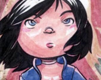 Bioshock Infinite: Elizabeth Sketchcard
