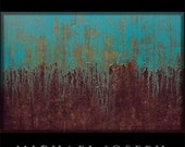 STUDIO CLEARANCE SALE - Original Modern Abstract Art Painting by Michael Joseph - huge 40 x 60 inch Turquoise & black