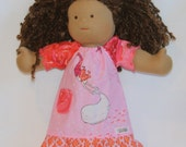 "14-15"" Ruffled Dress with Pocket for Waldorf Style Dolls"