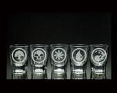 Magic the Gathering Manna - Five 2oz Shot Glasses