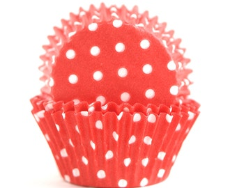 Red Polka Dot Baking Cups (60)