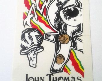 Vintage Alva  John Thomas Ankh Skateboard Sticker