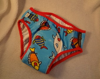 IN STOCK - Bamboo and Cotton Youth Incontinence Underwear with Waterproof Pad - Boys Size 5T