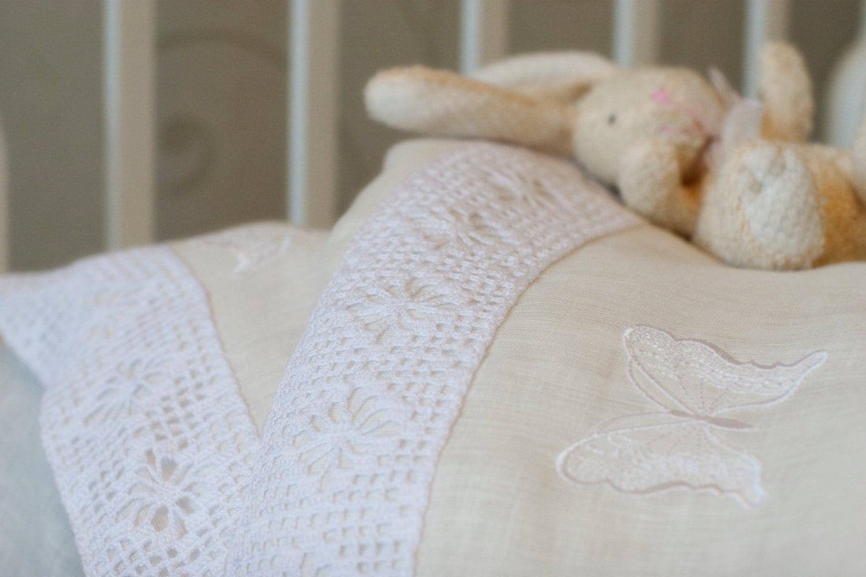 Baby bed linen set -  Handmade Baby Bed Linen Zoom