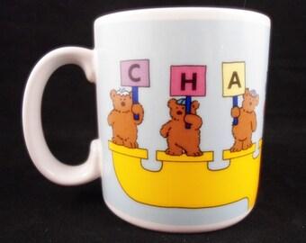 Happy CHANUKAH Coffee Tea Mug by RUSS Teddy Bears Jewish Hannakah