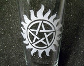 Supernatural Protection Tattoo pint beer glass tumbler