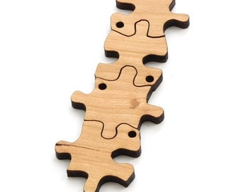 "Puzzle Piece Beads - 1 3/8"" Laser Cut Wood  Etsy Itsies by Timber Green Woods"