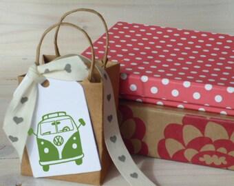 Split Windscreen Version VW Camper Van Olive Wood Stamp