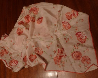 Soft and Silky Rose Print Scarf