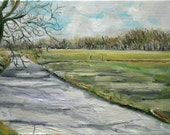 Dutch Landscape Spring in the Air oil painting original by Nancy van den Boom 30 x 40 cm
