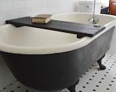 Custom Ebonized Tub Caddy by Peg and Awl