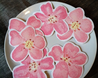 Pink Blossom Prints - Place cards, wishing tree, wedding decoration, baby shower, escort cards