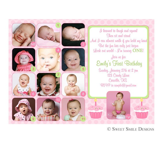 einladung baby geburtstag – cloudhash, Einladungen