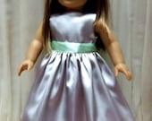 "American Girl 18"" Doll Silver Mint Green Beautiful Girlhood"