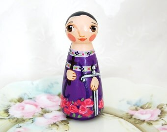 St Felicity of Carthage Catholic Saint Doll - Wooden Doll - Made to Order