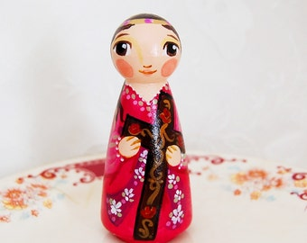 St Julia of Corsica Catholic Saint Doll - Wooden Toy - Made to Order