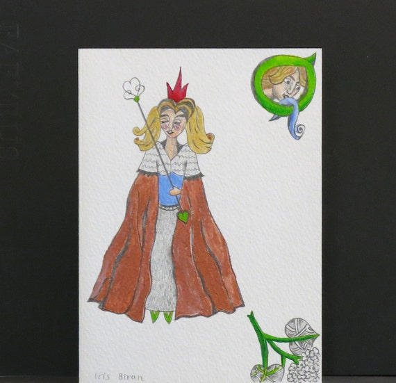 Queen - original illustrated greeting card