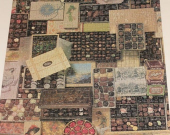 """Vintage Tega Jigsaw Puzzle-""""Gifts of Chocolate""""-550 Pieces-1982"""