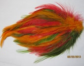 Rooster Hackle Feather Pad for hair accessories or other projects