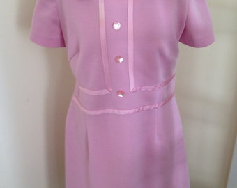Women's pretty blush vintage dress m L