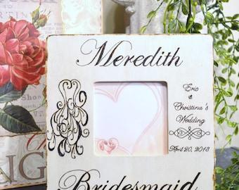 Wood Burned Personalized Bridesmaid Frame