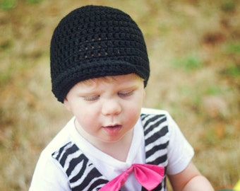 Simple Newsboy Beanie Crochet Pattern